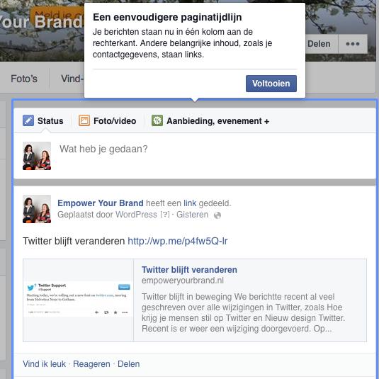 wijziging 1 Facebook