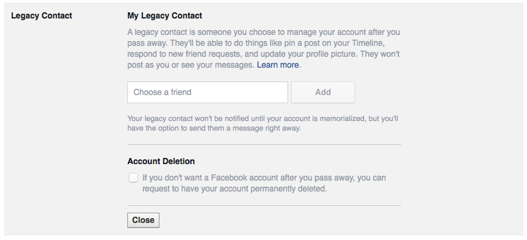 fb settings legacy